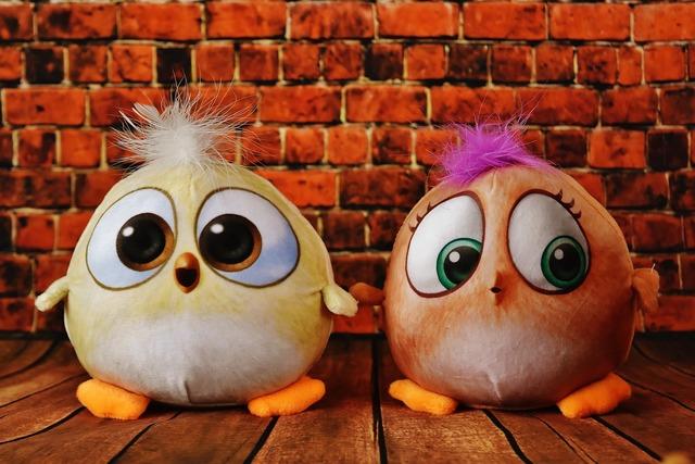 Birdie plush toys cute.