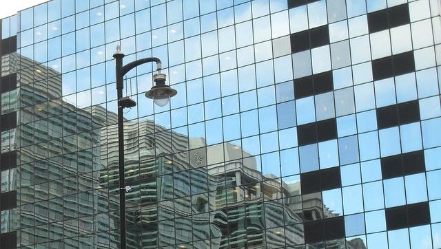Birmingham reflection glass, architecture buildings.