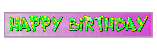 Birthday banner the inscription, backgrounds textures.