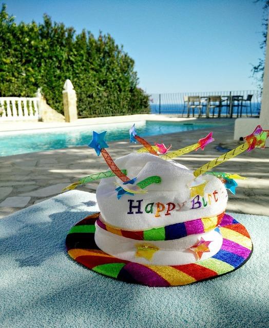 Birthday hat candles.
