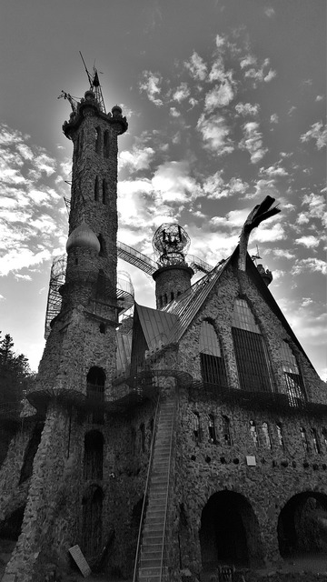 Bishops castle black and white castle.