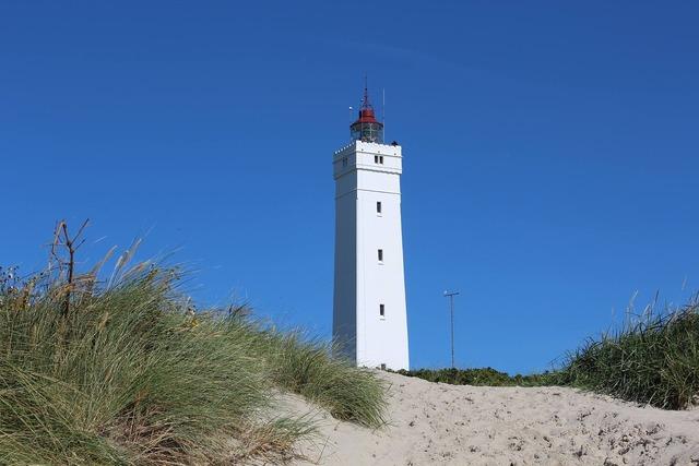 Blaavand denmark lighthouse, travel vacation.