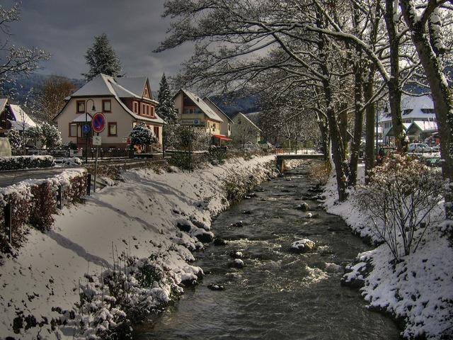 Black forest village bach, architecture buildings.