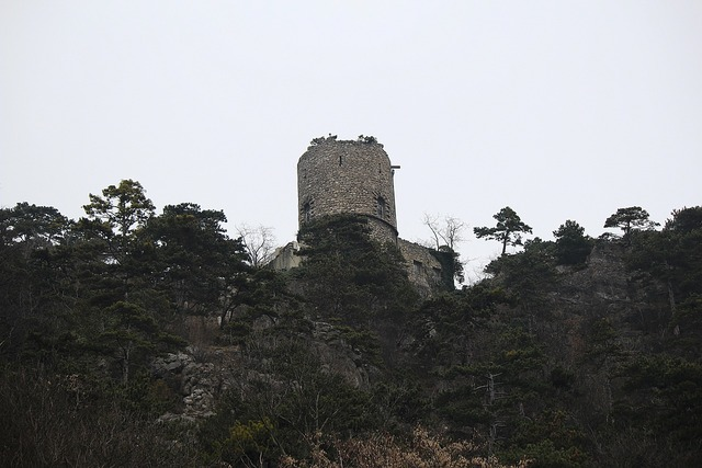 Black tower castle fortress.