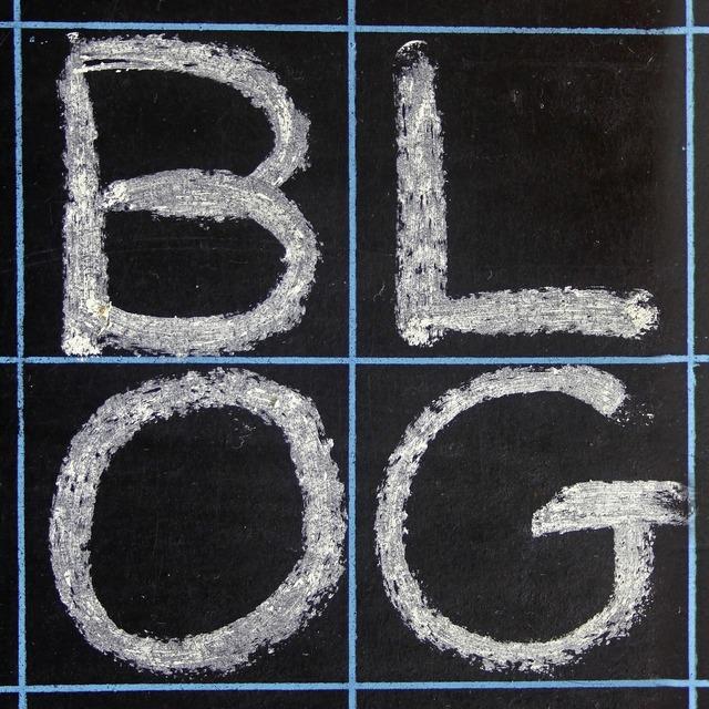 Blackboard blog black, computer communication.