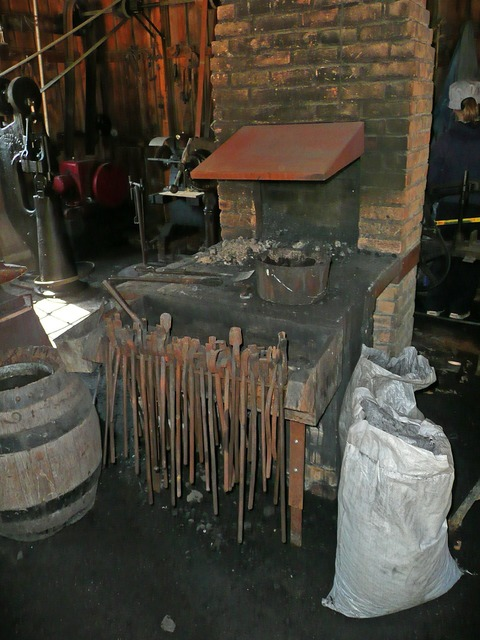 Blacksmith locksmithery locksmith shop.