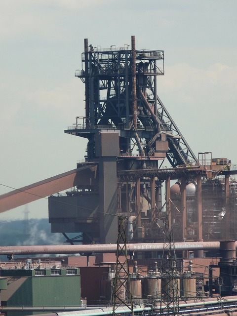Blast furnace industry duisburg, industry craft.