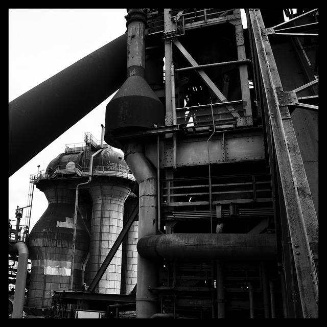 Blast furnace industry work, industry craft.