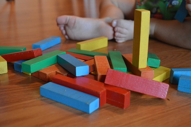 Blocks child toy, people.