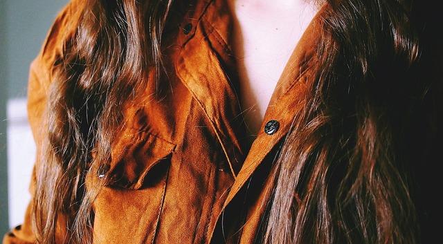 Blouse suede female, beauty fashion.