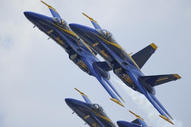 Blue angels aircraft flight.