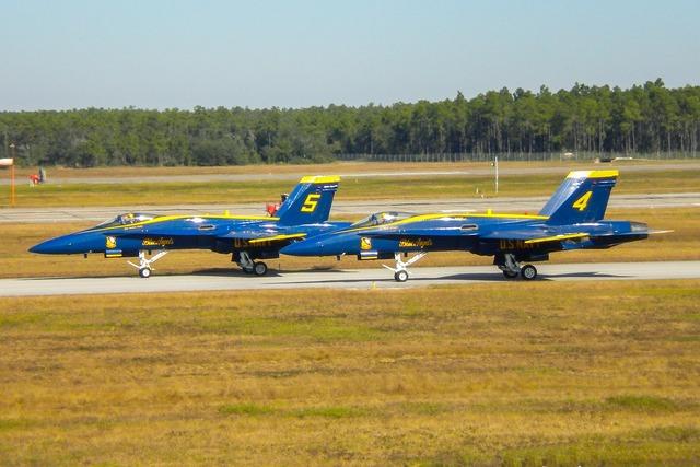 Blue angels f18 hornet aircraft.