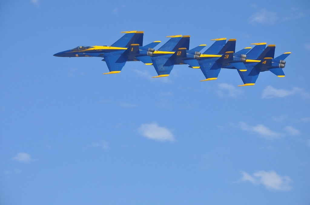 Blue angels jets f-18.