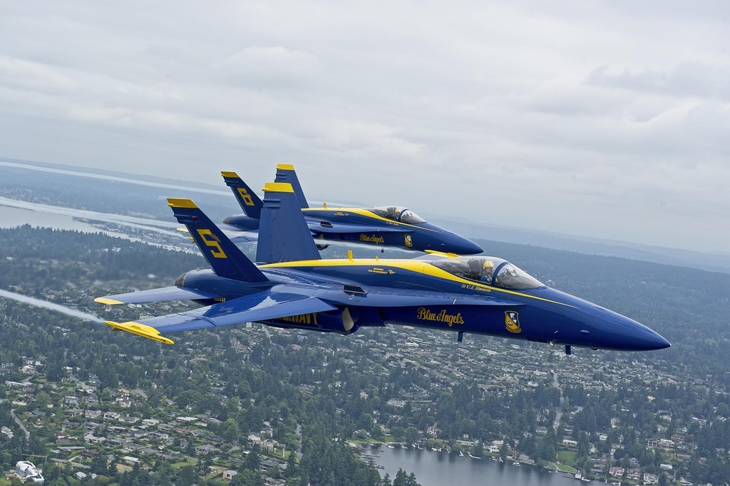 Blue angels navy precision.