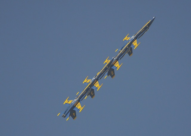 Blue angels squadron fighters.