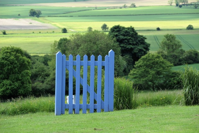 Blue gate english countryside english, nature landscapes.