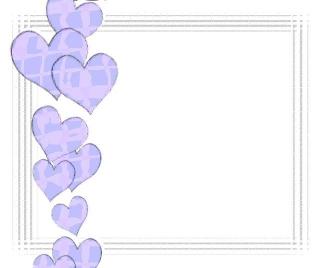 Blue hearts frame, emotions.