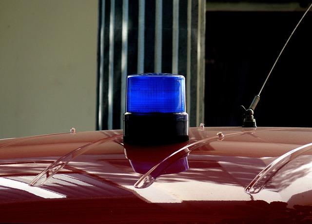 Blue light fire siren.
