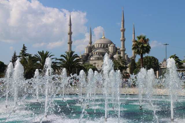 Blue mosque istanbul turkish, architecture buildings.