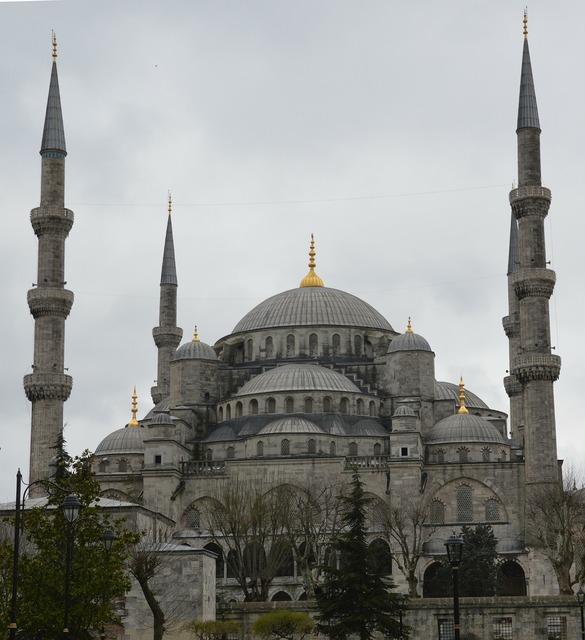 Blue mosque mosque minaret, architecture buildings.