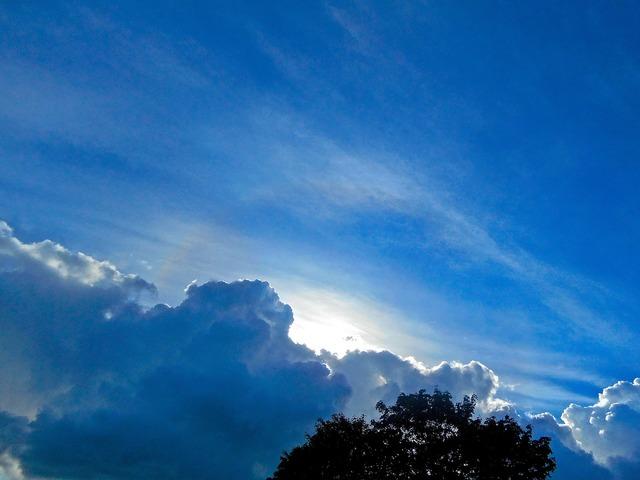 Blue sky cloud hope.