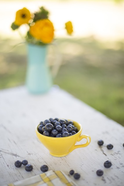 Blueberries bowl snack, food drink.