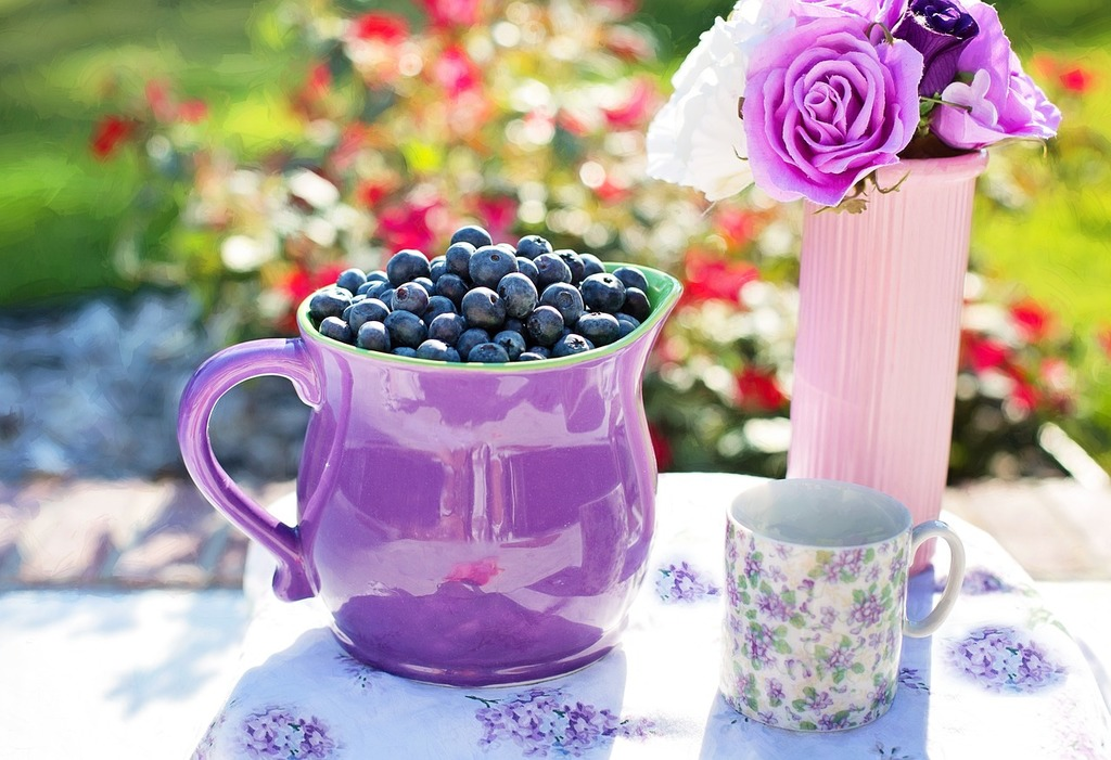 Blueberries summer fruit, food drink.