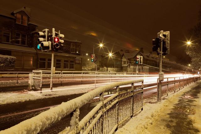 Blur blurred cold, transportation traffic.