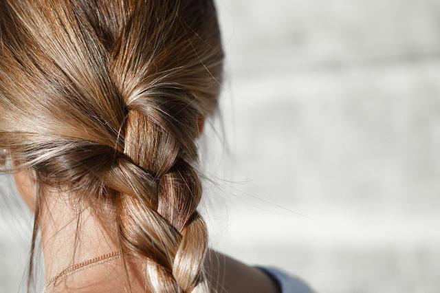 Blur braided hair brunette, beauty fashion.
