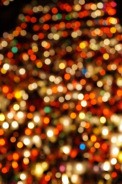 Blur lights candles.