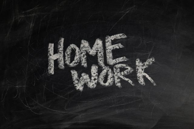 Board school homework, education.