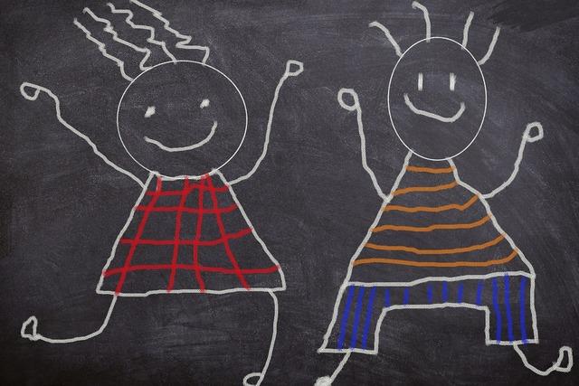 Board sketch chalk, emotions.