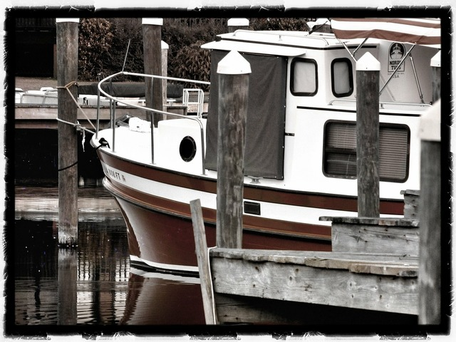 Boat dock slip, industry craft.