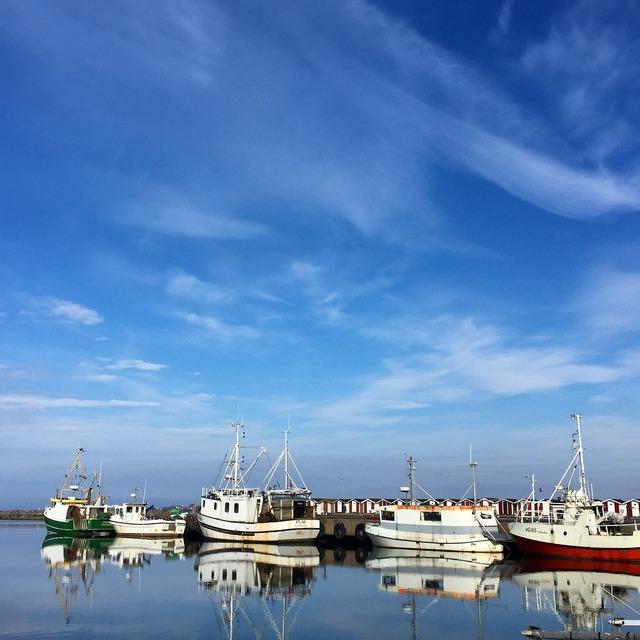 Boat himmel blue.