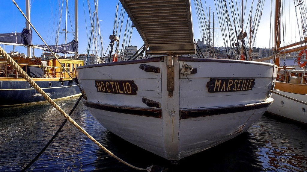 Boat prow mooring.