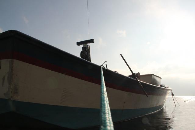 Boat sea ocean, travel vacation.