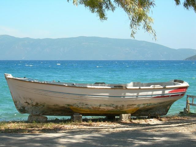 Boat sea summer, travel vacation.