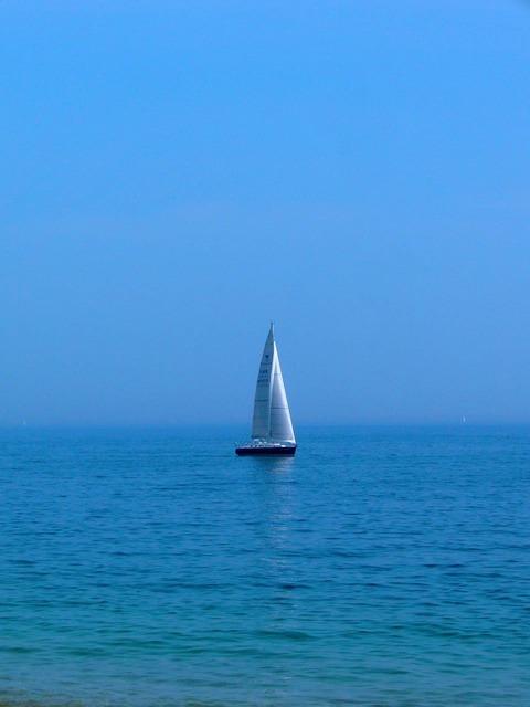 Boat sea sunny.