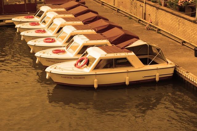 Boat sepia river.
