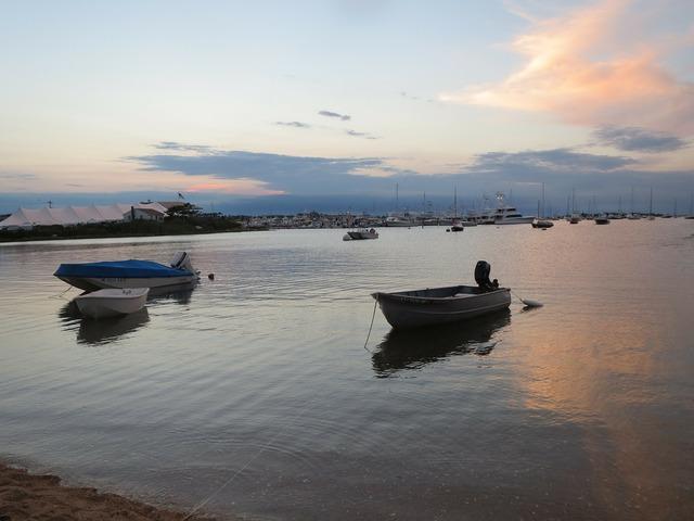 Boat sunset travel, travel vacation.