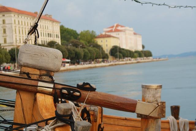 Boat zadar sailing, architecture buildings.