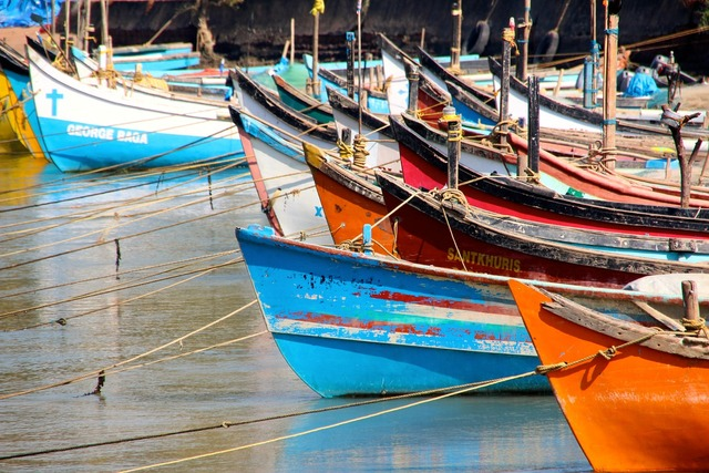 Boats port colorful.