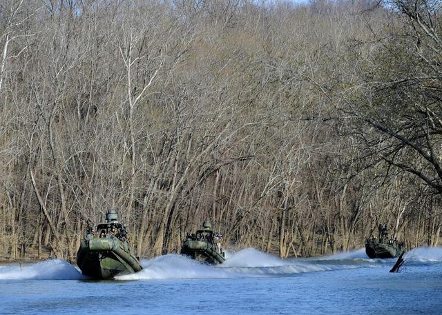 Boats training drills.