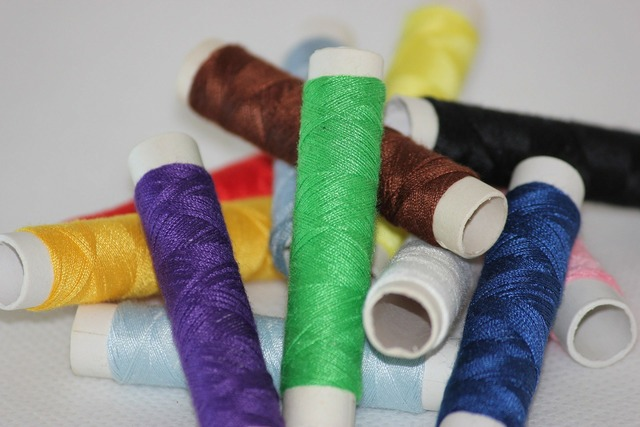 Bobbin thread sewing, industry craft.