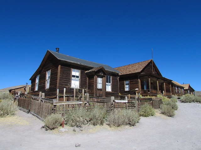 Bodie california town, architecture buildings.