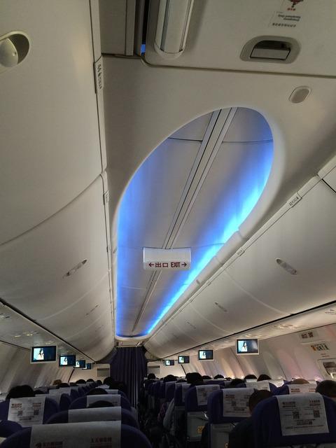 Boeing 737 aircraft interior airline.