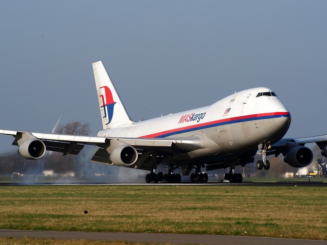 Boeing 747 jumbo jet malaysia airlines.