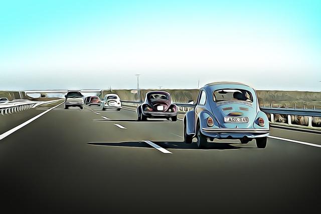 Bogárhátú retro car, transportation traffic.