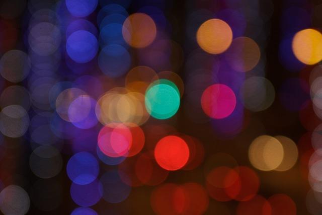 Bokeh colors lights.