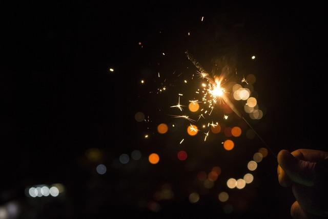 Bokeh dark lights.